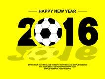 2016 SZCZĘŚLIWYCH nowy rok futbol Fotografia Stock