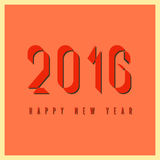 2016 szczęśliwych nowy rok, mockup ogienia stylu graficzny retro kartka z pozdrowieniami Zdjęcie Stock