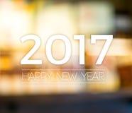2017 Szczęśliwych nowy rok na abstrakcjonistycznym świątecznym plamy bokeh światła backgro Zdjęcie Royalty Free