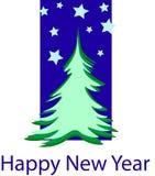 2019 szczęśliwych nowy rok pocztówek ilustracja wektor