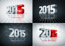 2015 Szczęśliwych nowy rok setów Obrazy Royalty Free