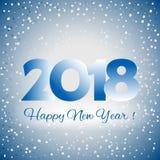 2018 Szczęśliwych nowy rok tło Obrazy Stock