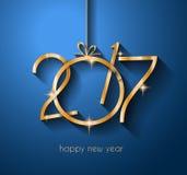 2017 Szczęśliwych nowy rok tło dla twój powitanie karty i ulotek Zdjęcia Stock