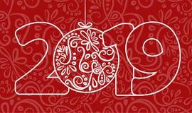2018 Szczęśliwych nowy rok tło dla twój Sezonowej powitanie karta i ulotek Bożenarodzeniowi o temacie zaproszenia lub royalty ilustracja