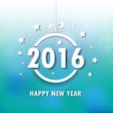 2016 Szczęśliwych nowy rok tło wektor Zdjęcie Stock