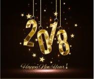 2018 szczęśliwych nowy rok wesołych Świąt gratuluje Obrazy Royalty Free