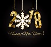 2018 szczęśliwych nowy rok wesołych Świąt gratuluje Zdjęcie Stock
