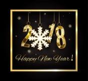 2018 szczęśliwych nowy rok wesołych Świąt gratuluje Obrazy Stock