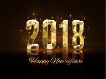 2018 szczęśliwych nowy rok wesołych Świąt gratuluje Zdjęcia Stock