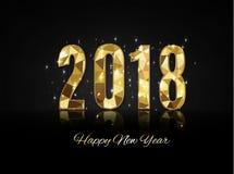 2018 szczęśliwych nowy rok wesołych Świąt gratuluje Zdjęcie Royalty Free