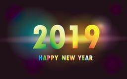 2019 Szczęśliwych nowy rok xmas ilustracja wektor