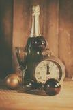 2017 Szczęśliwych nowy rok z zegarem Zdjęcia Stock