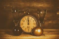 2017 Szczęśliwych nowy rok z zegarem Fotografia Stock