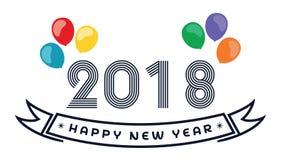 2018 szczęśliwych nowy rok Zabawa 2018 również zwrócić corel ilustracji wektora sztandar plakat Obrazy Stock