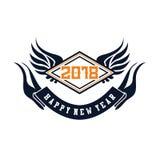 2018 szczęśliwych nowy rok Zabawa 2018 również zwrócić corel ilustracji wektora sztandar plakat ilustracji