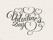 szczęśliwych valentines karciany dzień Chrzcielnica skład Zdjęcie Stock
