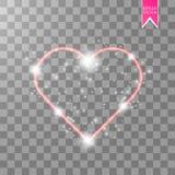 szczęśliwych valentines karciany dzień kocham cię 14 Luty Wakacyjny tło z sercami z strzała, światło, gra główna rolę dalej Obrazy Stock