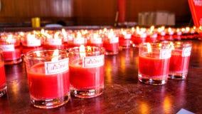Szczęsliwe świeczki Zdjęcie Stock