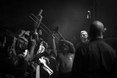 Szczęsliwi kotleciki przy muzyka na żywo klubem MI 02-12-2017 Zdjęcia Royalty Free