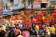 Szczęsliwi uroki dla sprzedaży, Tet nowy rok, Ho Chi Minh Obrazy Stock