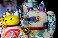szczęsliwy kota japończyk Obrazy Stock
