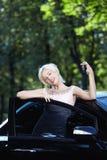 szczęsliwy samochodu zwycięzca obrazy royalty free