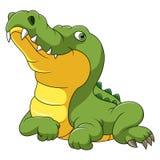 Szcz??liwa krokodyl kresk?wka royalty ilustracja