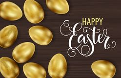 Szcz??liwa wielkanoc, maluj?cy jajka Wiosna wakacje, Wielkanocny t?o Wektorowa ilustracja EPS10 zdjęcia royalty free