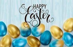Szcz??liwa wielkanoc, maluj?cy jajka Wiosna wakacje, Wielkanocny t?o Wektorowa ilustracja EPS10 zdjęcie stock