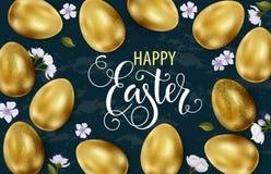 Szcz??liwa wielkanoc, maluj?cy jajka Wiosna wakacje, Wielkanocny t?o Wektorowa ilustracja EPS10 obraz stock