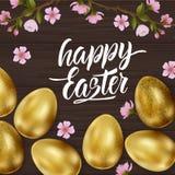 Szcz??liwa wielkanoc, maluj?cy jajka Wiosna wakacje, Wielkanocny t?o Wektorowa ilustracja EPS10 fotografia royalty free