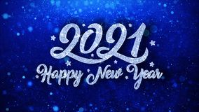 2021 Szcz??liwego nowego roku B??kitnych tekst?w ?yczy cz?steczek powitania, zaproszenie, ?wi?towania t?o ilustracji