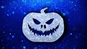 Szcz??liwi Halloween elementu mrugania elementu ikony cz?steczek powitania, zaproszenie, t?o ilustracji