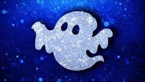 Szcz??liwi Halloween elementu mrugania elementu ikony cz?steczek powitania, zaproszenie, t?o ilustracja wektor