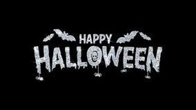 Szcz??liwy Halloween mrugania tekst ?yczy cz?steczek powitania, zaproszenie, ?wi?towania t?o ilustracji