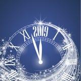 Szczęśliwy nowy rok 2019 ilustracji