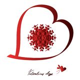 Szczęśliwy valentines dzień, wektor karta fotografia stock