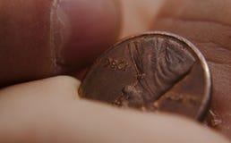 Szczęsliwy cent Zdjęcia Royalty Free