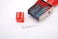 Szczęsliwy nowy rok 2015 Zdjęcie Royalty Free