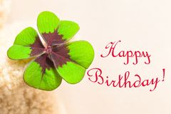 Szczęsliwy Urodzinowy Karcianego wizerunku motyw Obraz Stock