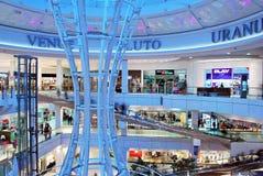 Szczeciński, Polska 01 2016 Wrzesień Galaktyki shoping centrum Obrazy Stock