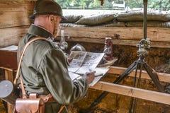 Szczecin, Πολωνία, την 1η Σεπτεμβρίου 2013: Ιστορική αναδημιουργία β Στοκ Εικόνες