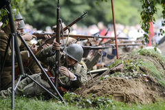 Szczecin, Πολωνία, την 1η Σεπτεμβρίου 2013: Ιστορική αναδημιουργία β Στοκ φωτογραφίες με δικαίωμα ελεύθερης χρήσης