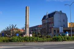 Szczecin στο πολωνικό στρατιωτών τετραγωνικό και αναμνηστικό μνημείο της Πολωνίας/των σοβιετικών στρατιωτών/το Μάιο του 2017 Στοκ φωτογραφία με δικαίωμα ελεύθερης χρήσης