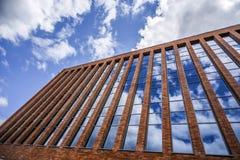 Szczecin, Польша, 17-ое июля 2017: Современная архитектура совмещая b Стоковое Изображение