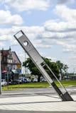 Szczecin, Польша, 17-ое июля 2017: Солнечные часы в квадрате в Szczec Стоковое фото RF