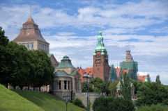 Szczecin. (Poland)- the historical buildings August 2012 Royalty Free Stock Image