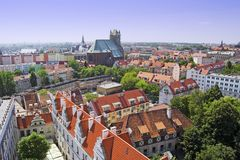 Szczecin Aerial View Royalty Free Stock Image