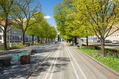 Szczecin-Ansicht der Allee der Blumen Stockfotografie