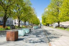 Szczecin-Ansicht der Allee der Blumen Lizenzfreie Stockfotografie